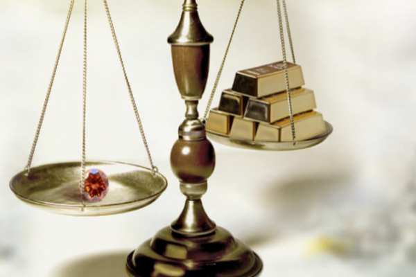 Oro vs diamantes